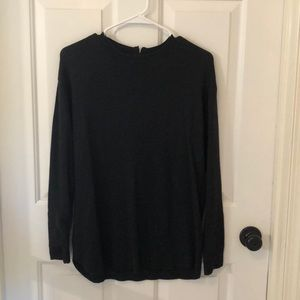 h&m plain black sweater